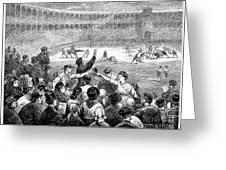 Spain: Bullfight, 1875 Greeting Card
