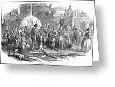 Spain: Madrid, 1848 Greeting Card by Granger