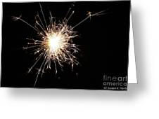 Spangle Greeting Card by Susan Herber