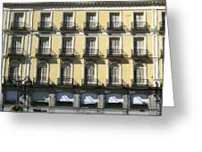Spanish Facade Madrid Greeting Card