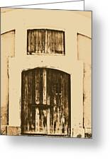 Spanish Fort Door Castillo San Felipe Del Morro San Juan Puerto Rico Prints Rustic Greeting Card by Shawn O'Brien