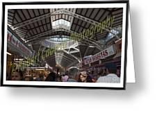 Spanish Market Greeting Card by Robert Cabrera