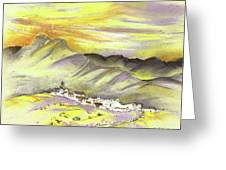 Spanish Mountain Village 01 Greeting Card