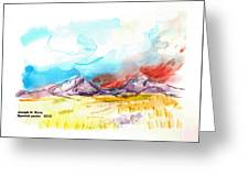 Spanish Peaks Study Greeting Card