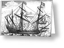 Spanish Ship, C1595 Greeting Card