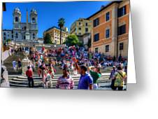 Spanish Steps Greeting Card