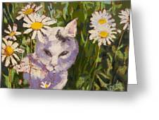Spark In The Daisies Greeting Card