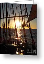 Sparkle In The Rigging Greeting Card by L Jaye Bell