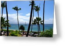 Sparkling Sea At Kaanapali Maui Greeting Card