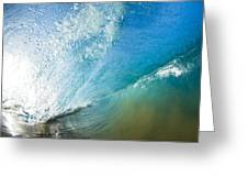 Sparkling Wave II Greeting Card