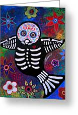Sparrow Day Of The Dead Greeting Card