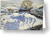 Sparrowpit Derbyshire Greeting Card by Andrew Macara