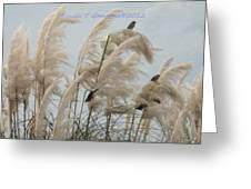 Sparrows In Breeze Greeting Card