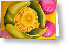 Spatterdock - Panel 1 Of 3 Greeting Card