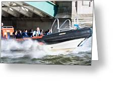 Speedboat Greeting Card