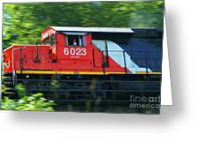 Speeding Cn Train Greeting Card