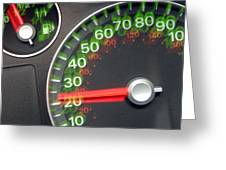 Speedometer Greeting Card by Johnny Greig