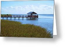 Spi Birding Center Boardwalk Greeting Card
