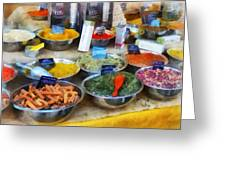 Spice Stand Greeting Card