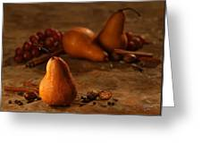 Spiced Pears Greeting Card