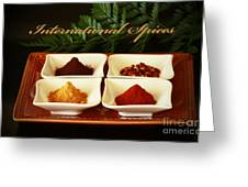 Spices From Around The World Greeting Card