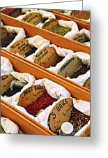 Spices On The Market Greeting Card