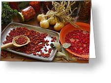 Spicy Still Life Greeting Card