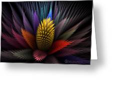Spiky Botanical Greeting Card by Peggi Wolfe