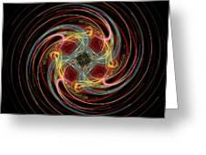 Spin Fractal Greeting Card