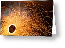 Spinning Fire Greeting Card