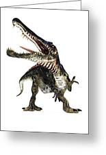 Spinosaurus Dinosaur, Artwork Greeting Card by Animate4.comscience Photo Libary