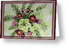 Spiral Bouquet  Greeting Card