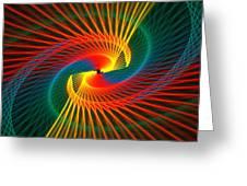 Spiral Rainbow  Greeting Card