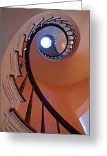 Spiral Stairway Greeting Card by Steven Ainsworth