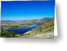 Spirit Lake From Windy Point  Greeting Card