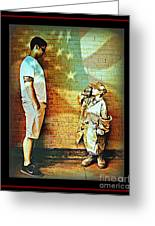 Spirit Of Freedom - Soldier And Son Greeting Card
