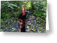 Spirit Rising From The Creek Greeting Card