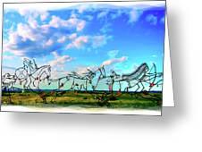 Spirit Warriors - Little Bighorn Battlefield Indian Memorial Greeting Card