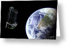 Spitzer Departing The Earth Greeting Card
