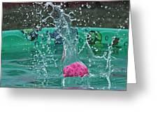 Splash Pool Greeting Card