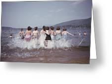 Splashing Into Lake George Greeting Card