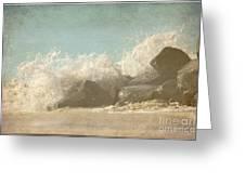 Splashing Wave Greeting Card