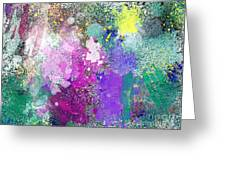 Splattered Colors Abstract Greeting Card