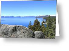 Splendid Lake Tahoe Greeting Card