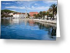 Split Bay In Croatia Greeting Card