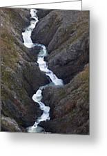 Split Creek Cascading Down Brabazon Greeting Card
