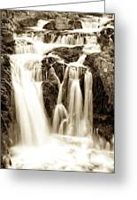 Split Rock Falls Black And White 6665  Greeting Card