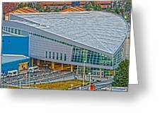 Spokane Convention Ctr From Atop Onb Greeting Card