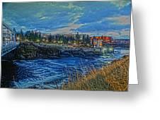Spokane Falls  From Howard St Bridge Greeting Card