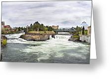 Spokane Falls From The Lincoln Street Bridge Greeting Card